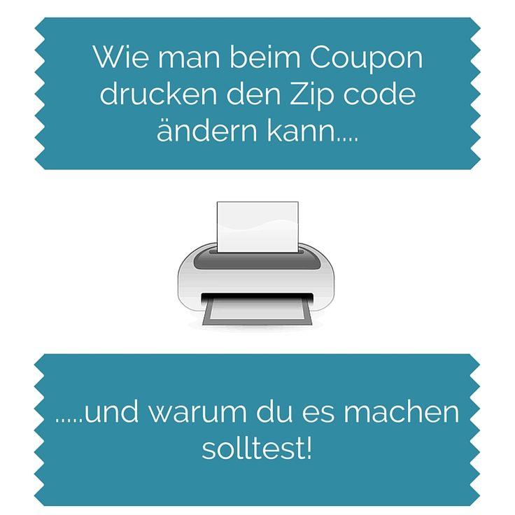 #Couponing in der USA - Warum du beim Coupon drucken den Zipcode ändern solltest #Couponen #UsaBilligAberGutLeben #Coupons
