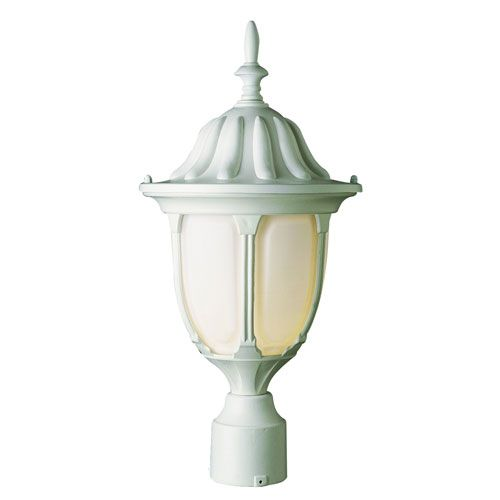 The Trans Globe Lighting White Outdoor Post Light Makes For A Fine Addition  To Any Garden