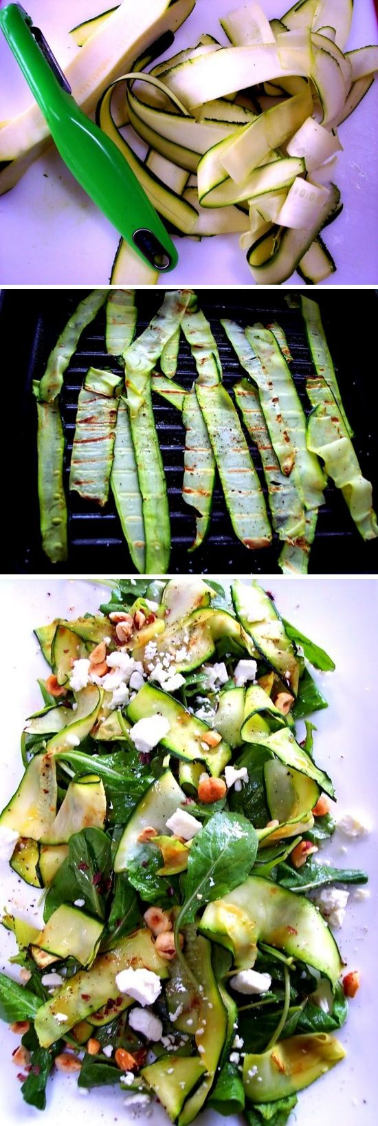 Simple Zucchini Ribbon Salad.. try this one ..