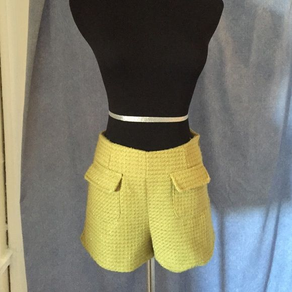 Alythea Lime green shorts Alythea lime green shorts . Front pockets . Sip up side . Clean cut Alythea Shorts
