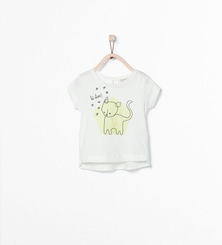 Image 1 of Organic cotton printed T-shirt from Zara