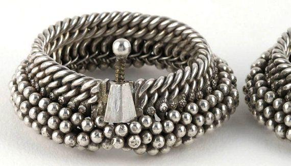 Pair Antique India Silver Bracelets Anklet - by jasmineium, $1100.00
