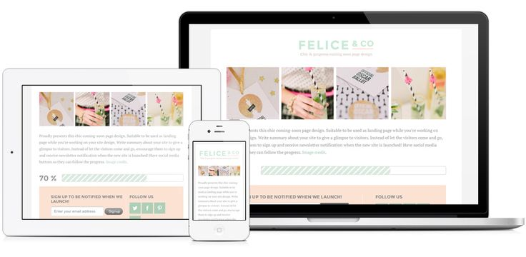 Felice WordPress Theme > The Felice Theme acts as a bookmark, teasing and preparing your readers for your new website.