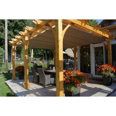 Outdoor Living Today Breeze Cedar 12 ft. x 16 ft. Pergola ...