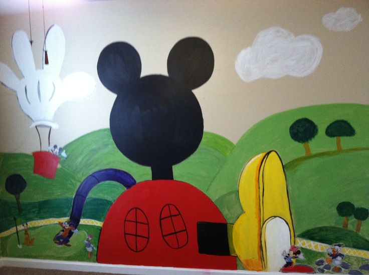 Mickey mouse clubhouse playroom wall playroom ideas - Mickey mouse clubhouse bedroom decor ...