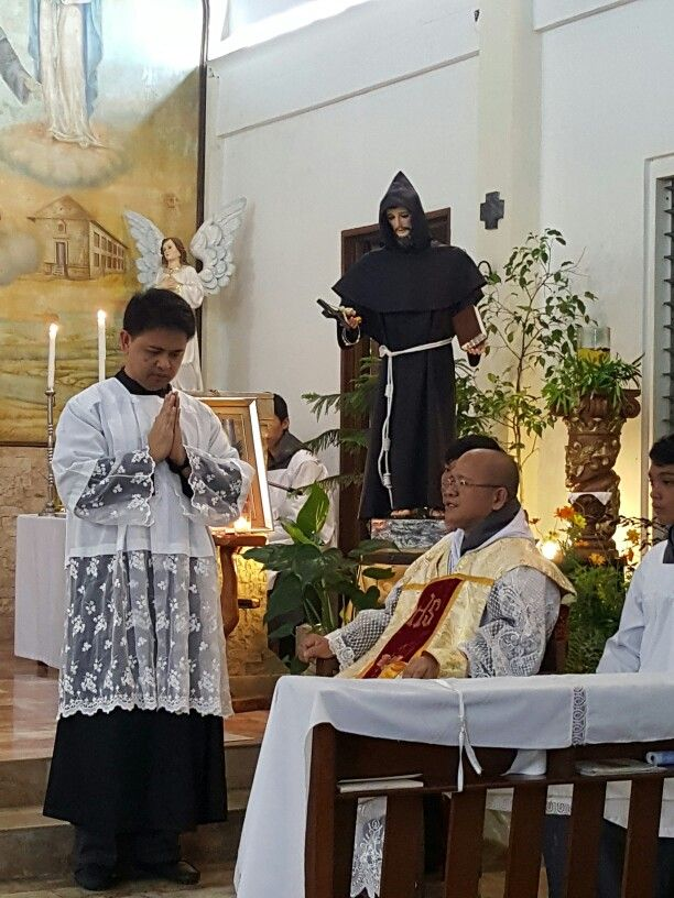 My husband's passion--serving Jesus in Holy Mass.