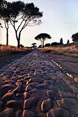 Appian Way: the road to Rome. Have to do this again with the moms. It's so peaceful.