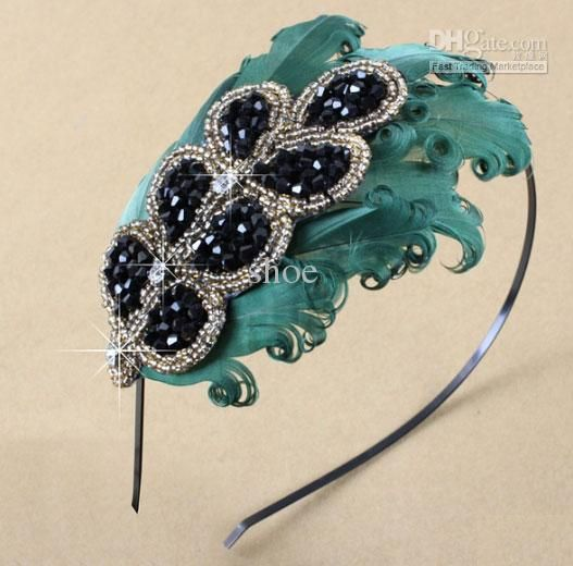 Handmade Feather Decoration Peacock Mix Styles Headband Hairband Hair Band Natural Fashion Online with $470.36/Piece on Shoe's Store | DHgate.com