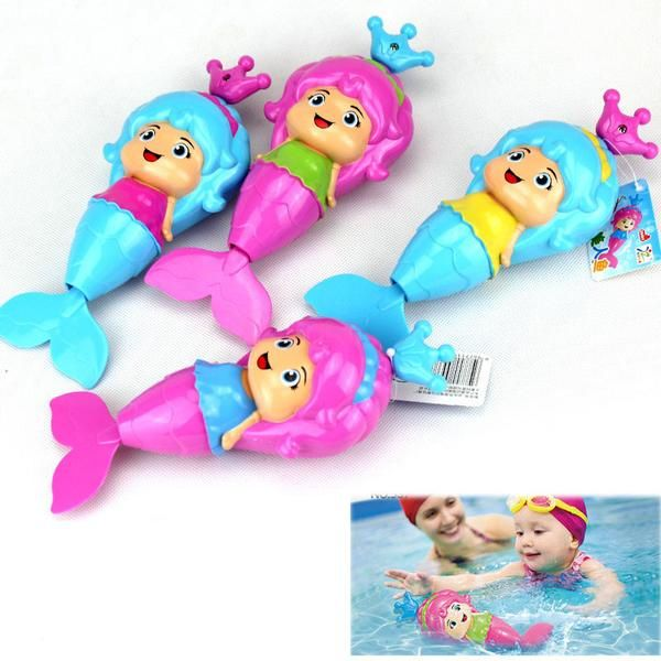 Baby Cute Mermaid Clockwork Dabbling Bath Toy Regular price $10.99