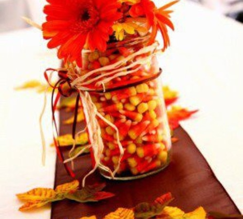 Best fall mason jar table centerpieces images on