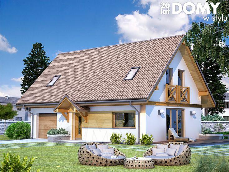 Wizualizacja projektu domu Albit