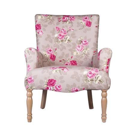 nancy floral lottie chair dunelm 249 decor and room. Black Bedroom Furniture Sets. Home Design Ideas