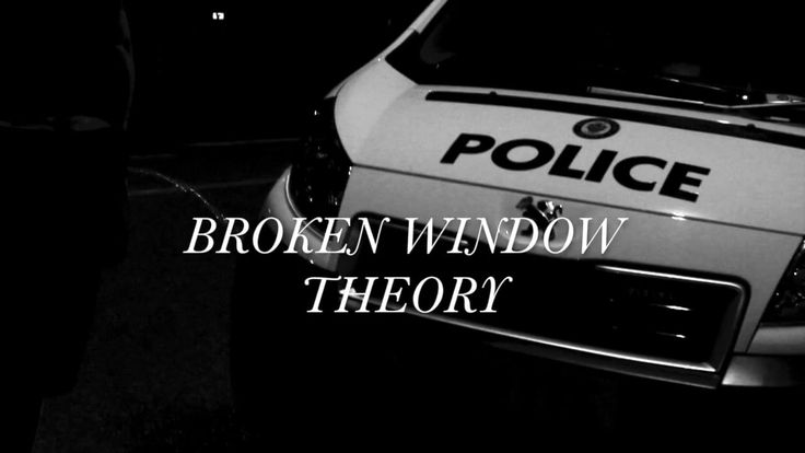 broken window theory sociology definition