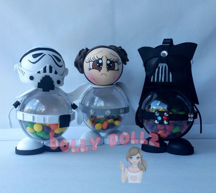 Star Wars Favors, Candy Box, Goodie Box, Favors, Party Favors, Darth Vader, Leia,Stormtrooper,Disney birthday,Birthday favors,Party,candy by DollyDollz on Etsy