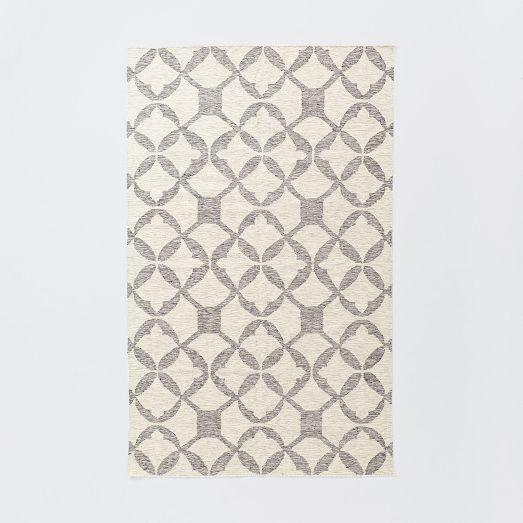 Tile Wool Kilim - Platinum | west elm