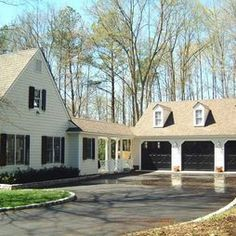 garage with breezeway in back of house - Google Search