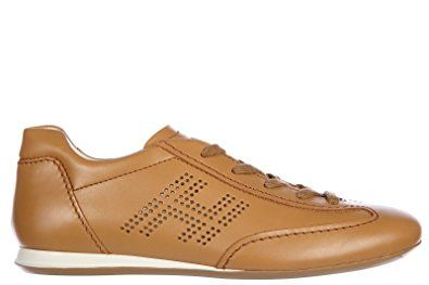 Hogan Women's Shoes Leather Trainers Sneakers Olympia h bucata Brown Review