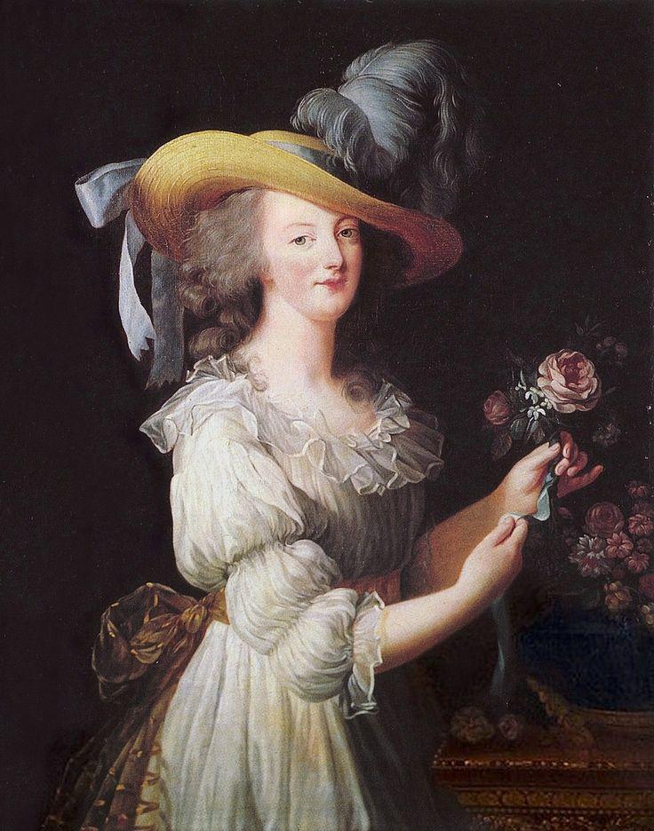 Page: Marie Antoinette in a Muslin dress  Artist: Louise Elisabeth Vigee Le Brun  Completion Date: 1783  Style: Rococo  Genre: portrait