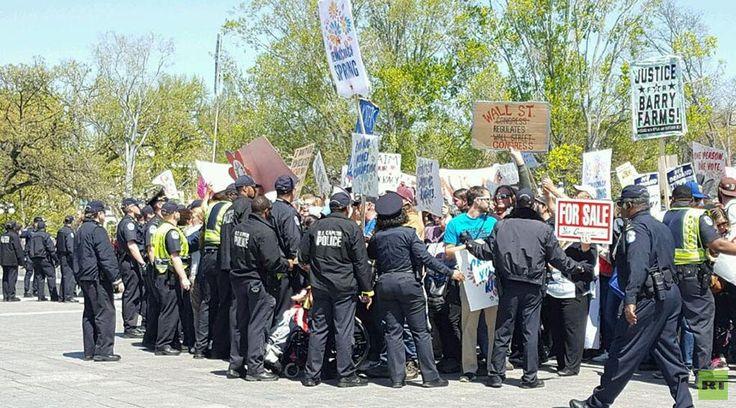 More arrests at US Capitol as Democracy Spring meets Black Lives Matter