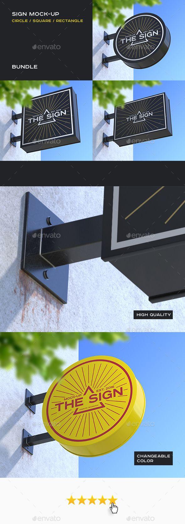 Sign Mock-up Bundle. Download here: http://graphicriver.net/item/sign-mockup-bundle/16071040?ref=ksioks