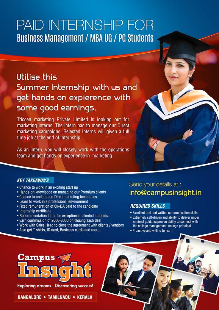Internship for students.