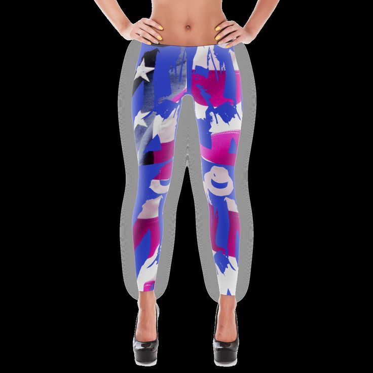 Designer Leggings - American Pop Star - Celestial Clothing Brand #CelestialClothingBrand #Footless