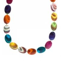 Rainbow Bead Nacklace – Resin Mixed Colours