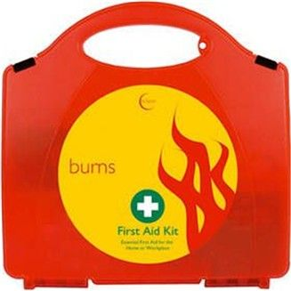 First aid kit for burns, burns first aid kit. Contains burns dressings as used by the fire service. Perfect in areas where there is hot machinery or ovens.