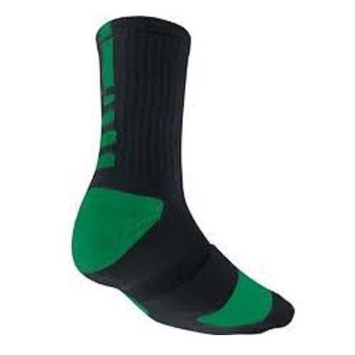 Nike Mens Elite DriFIT Basketball Crew Black Green Socks SZ 8-12 L SX3693-003 #Nike #Athletic
