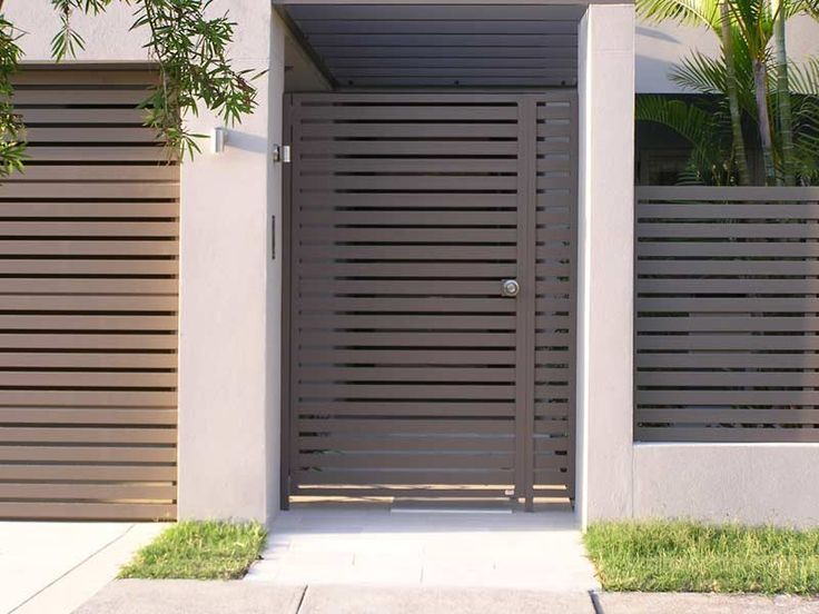 Modern private entry gated entry pinterest front for Modern front gate design