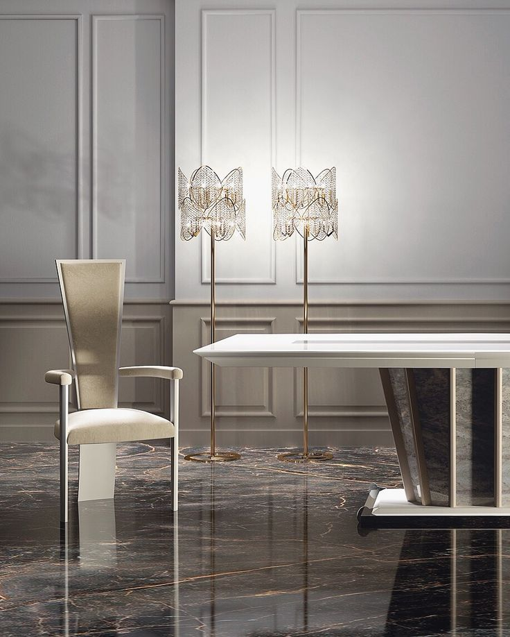 The timeless elegance of High Chair  combined with the impressive Capital Dining Table gives birth to an incredible space! #vismaradesign #luxuryhome #luxuryinteriors #luxury #italianfurniture #madeinitaly