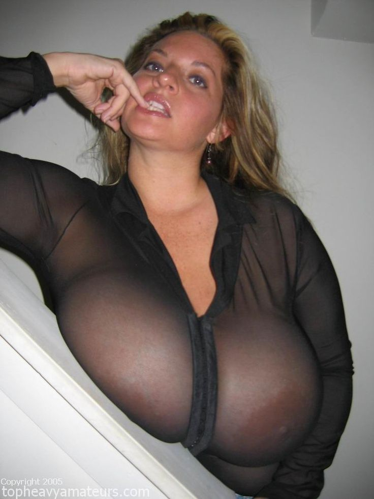 Through see top boobs big