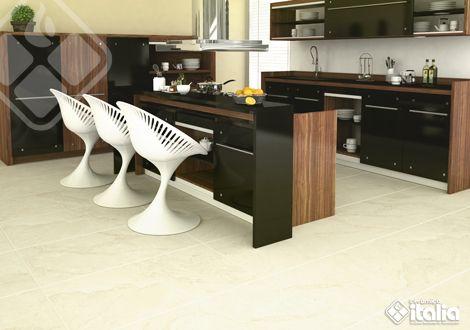 Los formatos grandes son la nueva tendencia, remodela tu cocina con nuestros productos grandes de tonos claros que son fáciles de combinar con diversos mobiliarios. #DiseñoCocinas #EstilosDeCocinas #CerámicaItalia