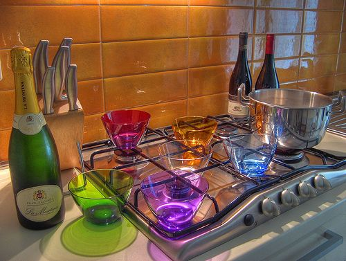 colorful kitchen-colorful equipments