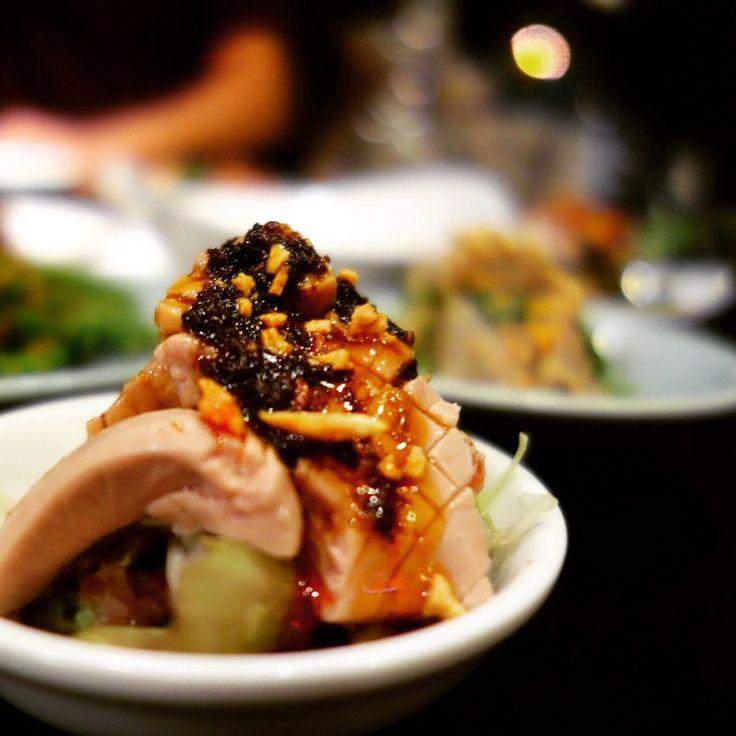 中華小皿料理 豚マメの四川ニンニクソースかけ