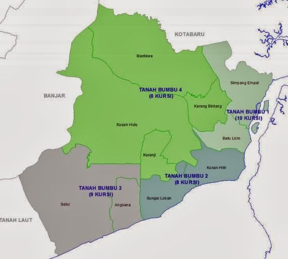 daftar nama caleg DPRD Tanah Bumbu dapil 2