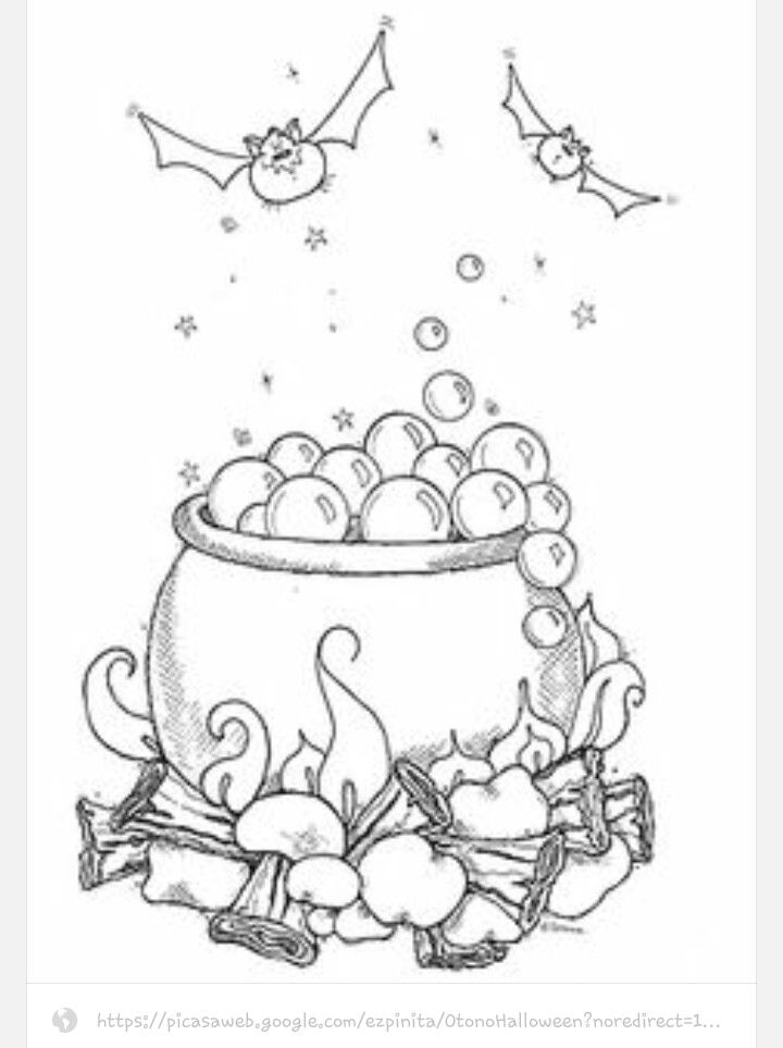 cauldron coloring page - witch cauldron coloring page sketch coloring page