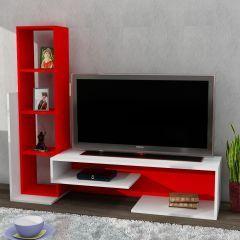Bend Tv ünitesi Beyaz-Kırmızı