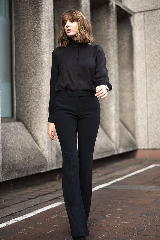 7f77f5da704 The Best Outfit Ideas Of The Week  Fashion blogger  Shot From The Street   wearing a black mock neck blouse