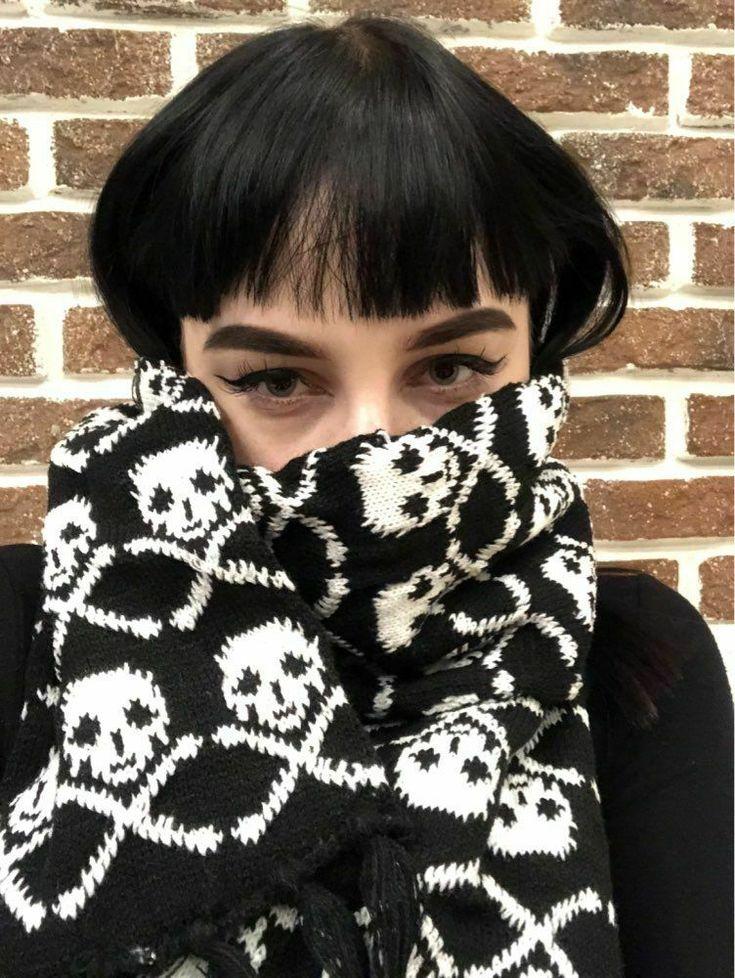 Italy Stylish Skull Winter Knitted Unisex Women Men Scarf Skeleton