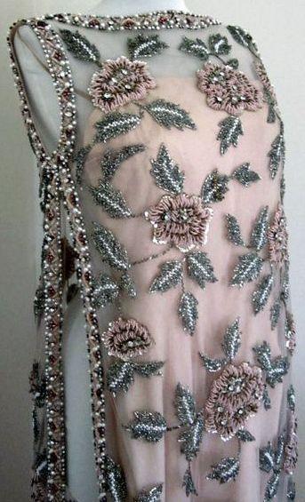 Victoria Royal - Tunique de Soirée ' Perles et Strass - Années 60