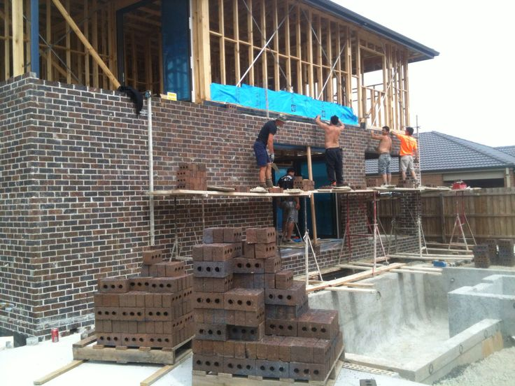 Hard day brick laying. Pretty big house! If I work hard enough, my home will be in progress in future. Dream big!