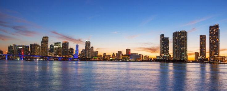 Panoramic view of Miami at sunset by frederic prochasson