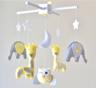 gray and yellow baby mobile - Google Search