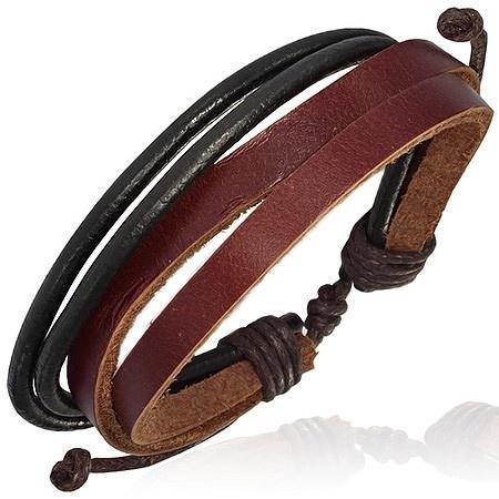 Leren armband Multi Wrap Rope Brown - Armbanden - Heren sieraden » Lookinggoodtoday.com