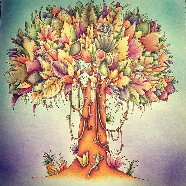 Finished Johannabasford Magicaljungle Prismacolorpencils Joanna BasfordColoring BooksAdult