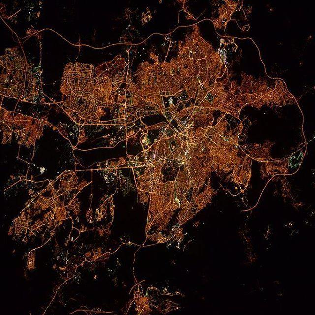 Ankara, Turkey, at night from ISS
