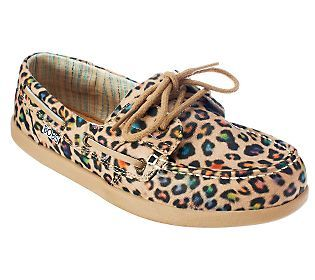 c1c57ff6aac4 BOBS by Skechers Leopard Print Boat Shoes | @QVC Presents 'FFaNY Shoes On  Sale' | Shoes, Pretty shoes, Boat shoes