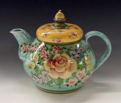 Tea: Teapot by Sandy Kreyer, for #tea time.