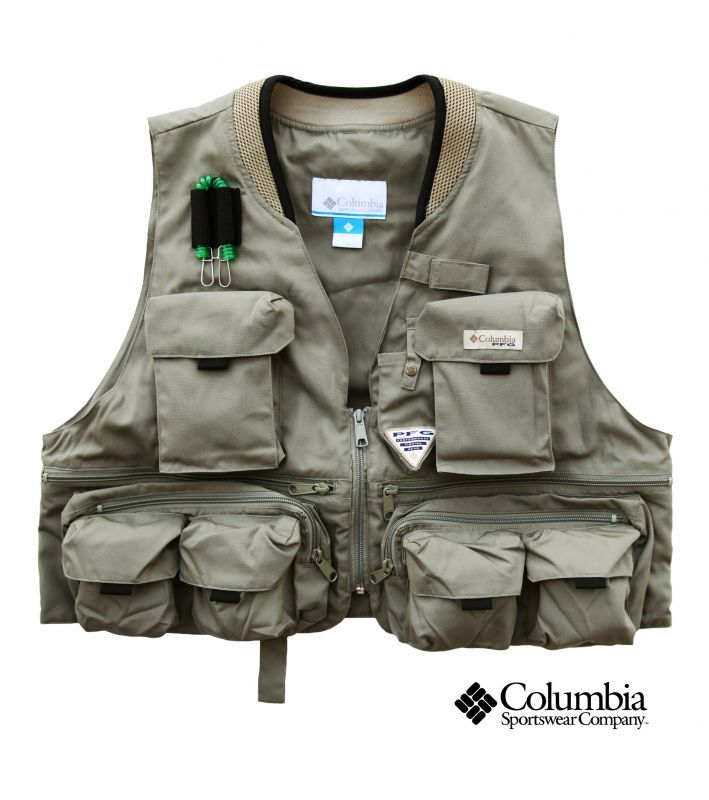 Columbia fishing vest sage fly fishing for Kids fishing vest